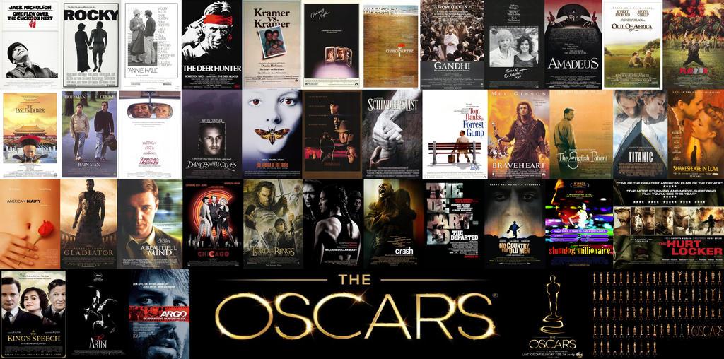 Best Picture Oscar Winners 1975-2012 by EspioArtwork