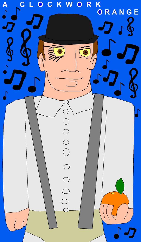 A Clockwork Orange Music To My Ears Cartoon JPEG by EspioArtwork