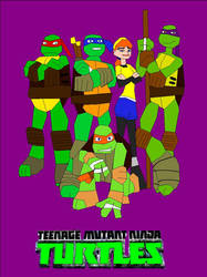TMNT 2012 Bitmap Speedcolor Cover by EspioArtwork