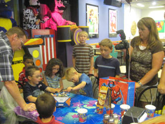 Logan's Birthday at Chuck E's Cheese's by EspioArtwork