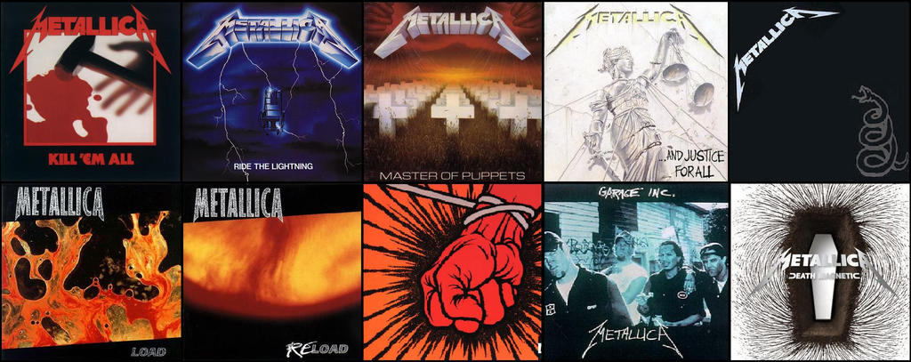 Metallica 10 Albums Wallpaper Jpeg By Espioartwork On