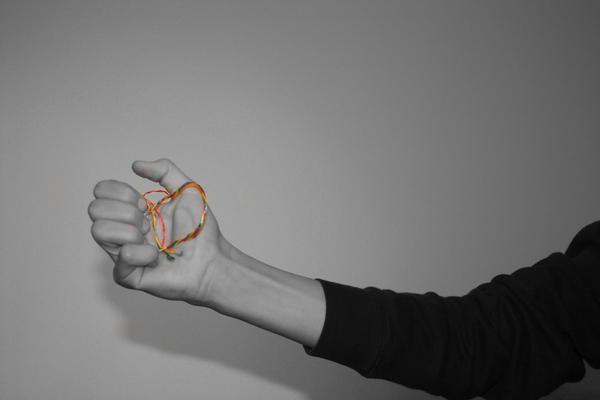 colorful wire in my hand by sonderzeichen