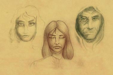 Bocetos variados by yeraymuaddib