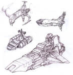 Space ships sketches