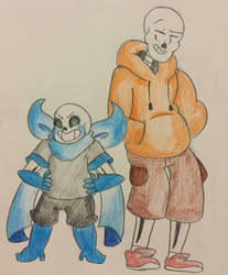 Underswap Sans and Papyrus by MsCreepyPlagueDoctor
