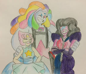 Pearl, Bismuth and Garnet by MsCreepyPlagueDoctor