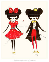 Minnie and Mickey Mouse by jb0xtchi