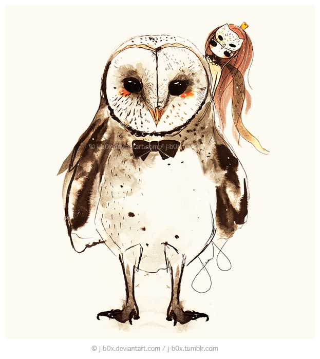 Cute barn owl drawing for Draw an owl in two steps