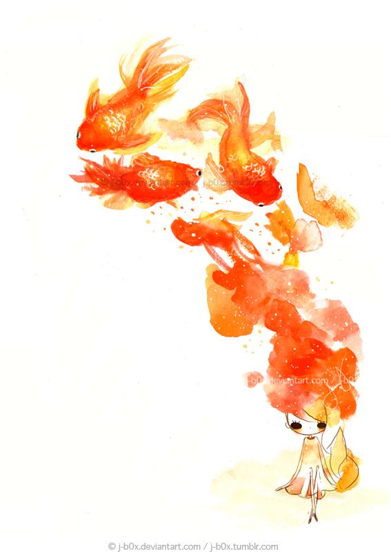 Le Goldfishies in my Brain by j-b0x