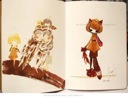 Sketchbook Project KFox by jb0xtchi