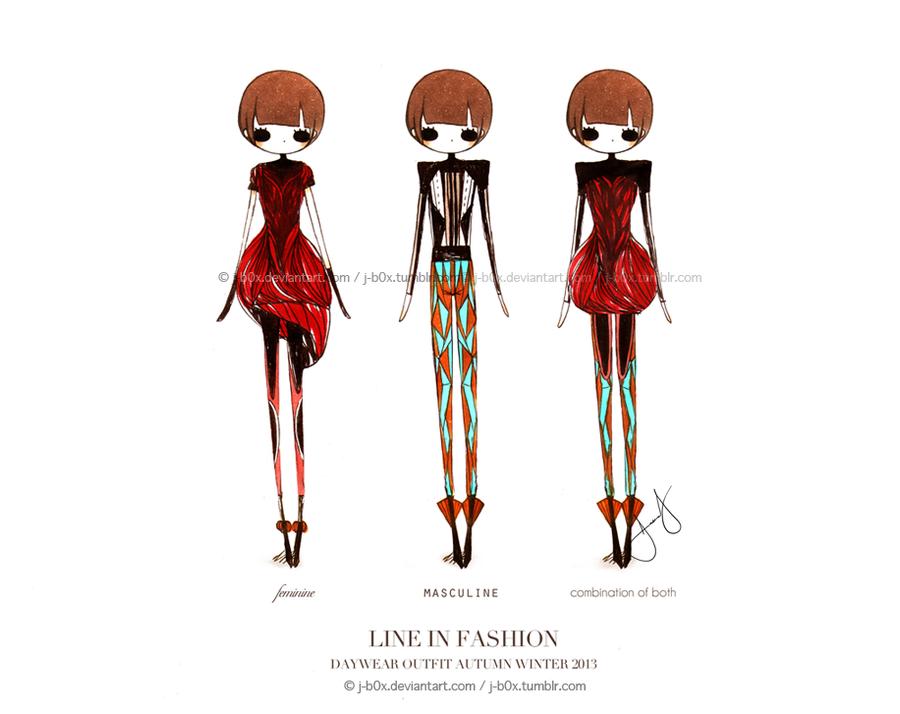 Fashion Design Masculine and Feminine line by j-b0x