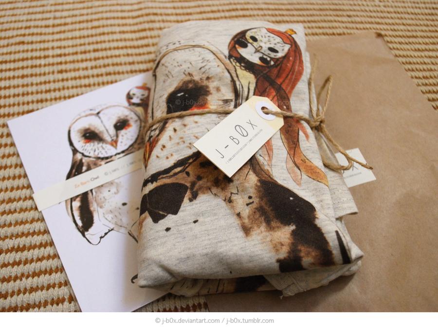 Owl Tee Packagaing by j-b0x
