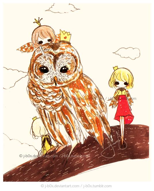 Owling messengers by j-b0x