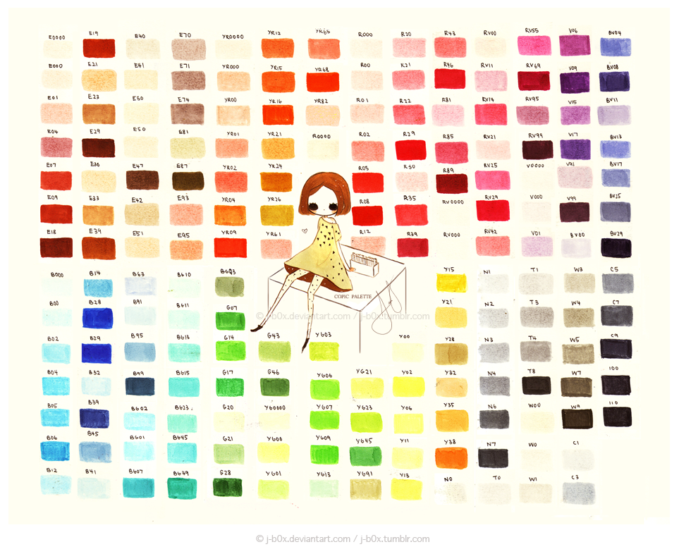 Copic Palette 2013 by j-b0x