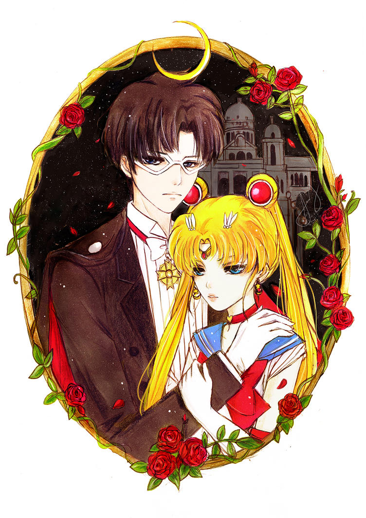 Mamoru and Usagi by j-b0x