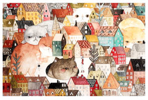 Cat Town - Bunny and Kryde by jb0xtchi
