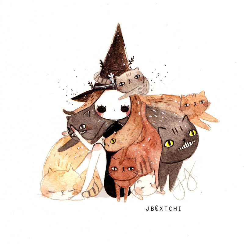 The Witch with Cat Hair
