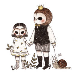 The Owl King, His Daughter and their Pet Snail