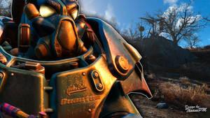 Fallout 4 Wallpaper - Nuka-Cola Quantum PowerArmor