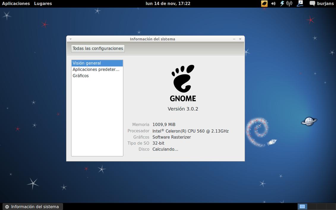Debian Gnome 3
