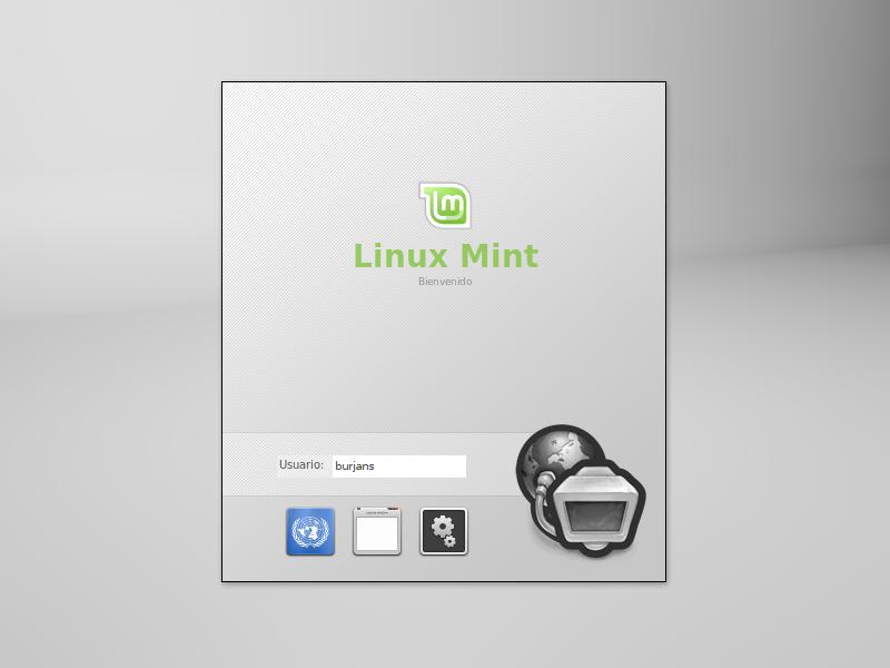 Inicio de sesión de Linux Mint 13 Original