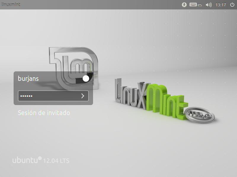 Linux Mint 13 con Unity Greetr