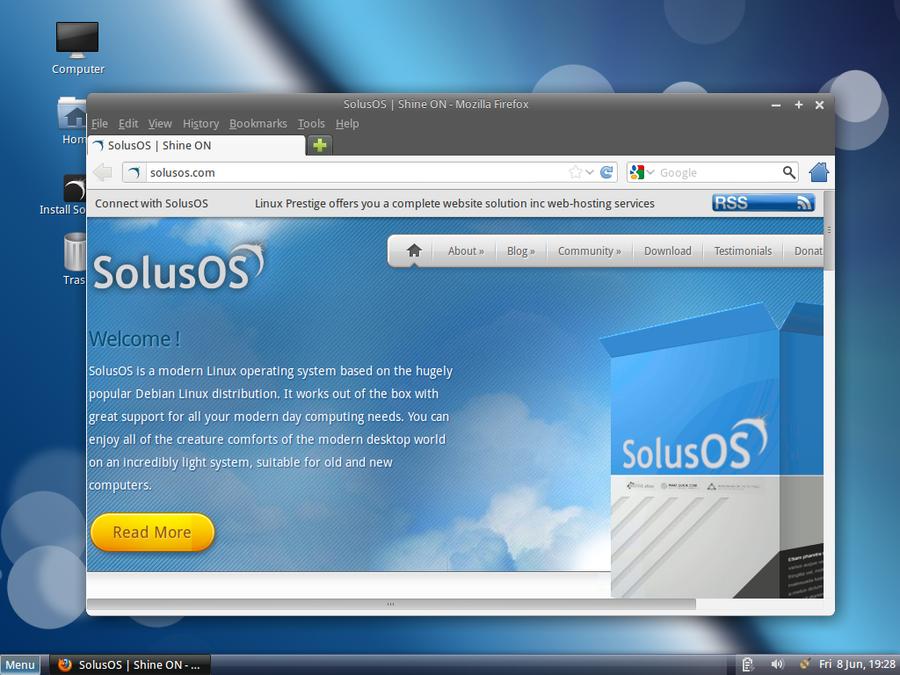 Firefox en SolusOS 2