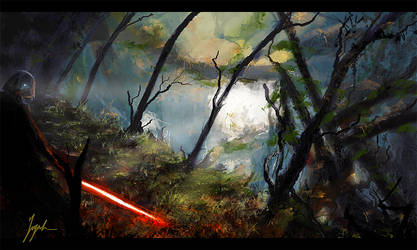 Vader on Kashyyyk by Aeleath