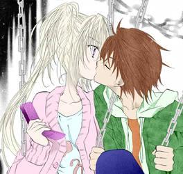 Kutau kiss - manga colored-