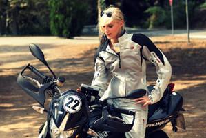 Biker Girl Aprilla 2 by KaylaDavion