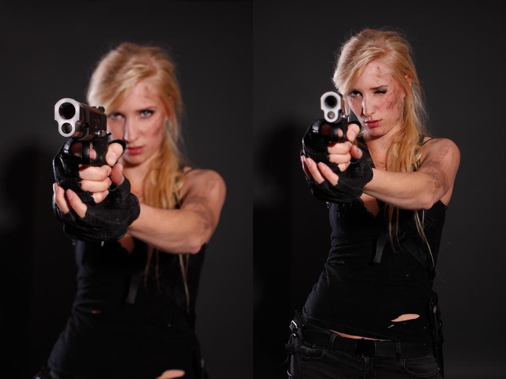 Tomb Raider/ Sarah Connor like Stock 7 by KaylaDavion
