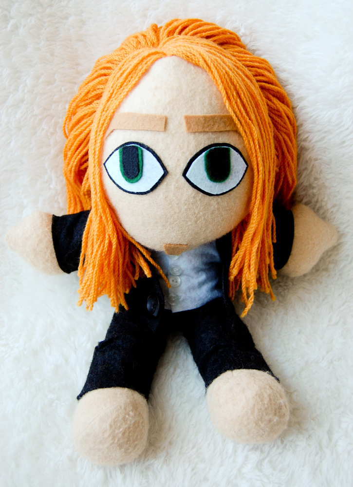 Large Tim Minchin Plushie Doll by badhairday24