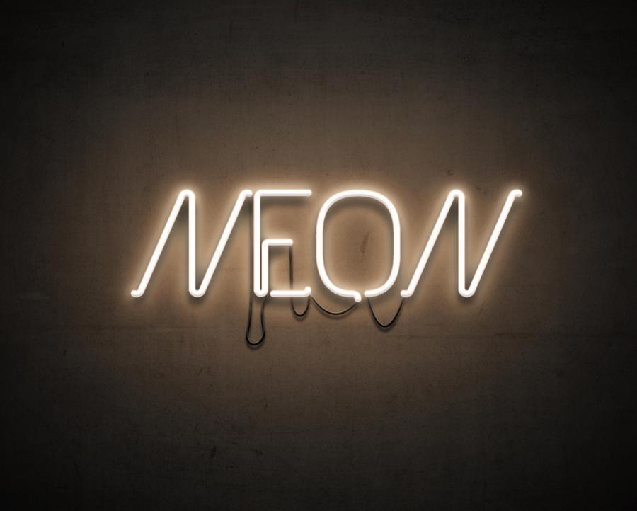 neon text by leoaw on deviantart