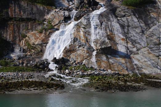 Glacial Waterfall, Alaska 3