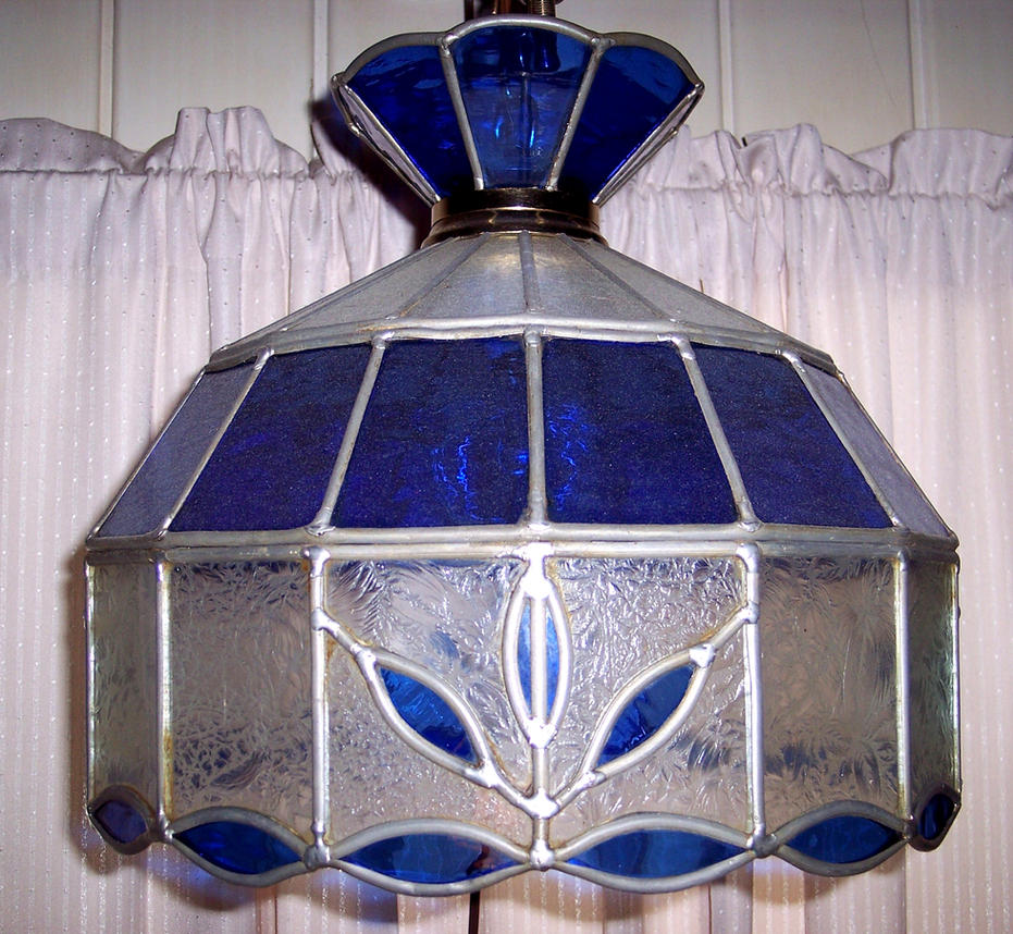 shades antique light pendant glass vintage stained hanging lamp good patterns things