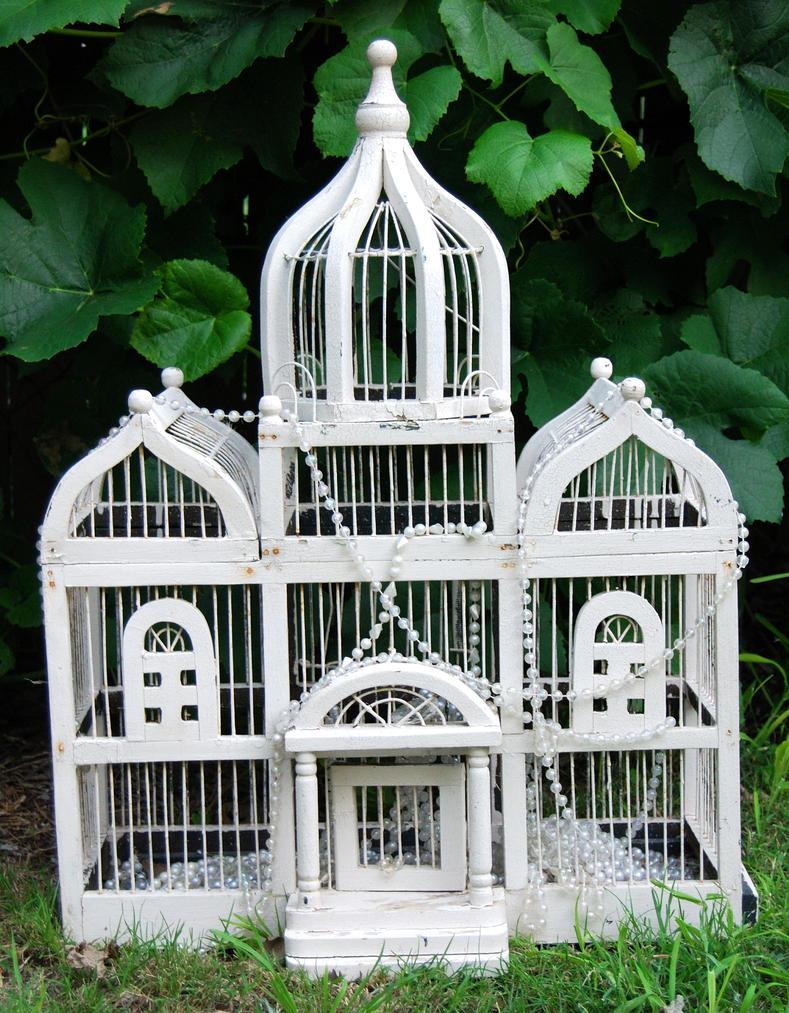 White Birdcage by Stock-by-Kai