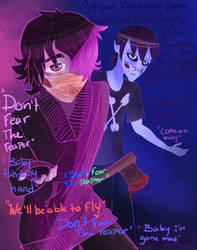 Billy and Alura Don't fear the reaper by OctoberZombieClown