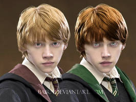 Ron Weasley from Slytherin by Baira
