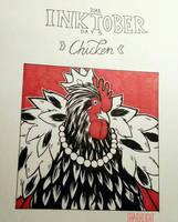 INKTOBER  Day 5  Chicken by Sharklight-Express