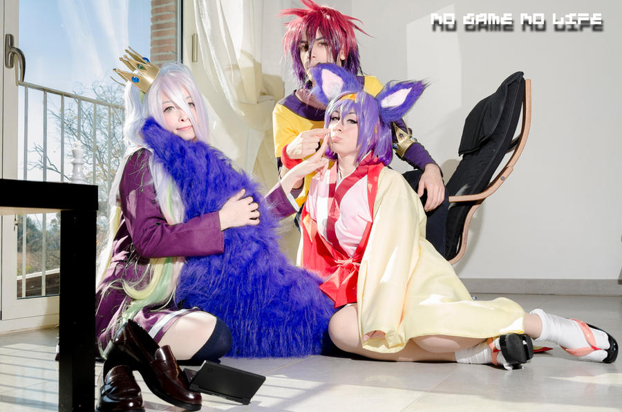 No Game No Life - Izuna + Sora + Shiro by FaggioMAG