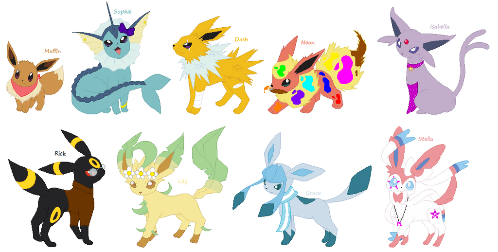 Pokemon Eeveelutions