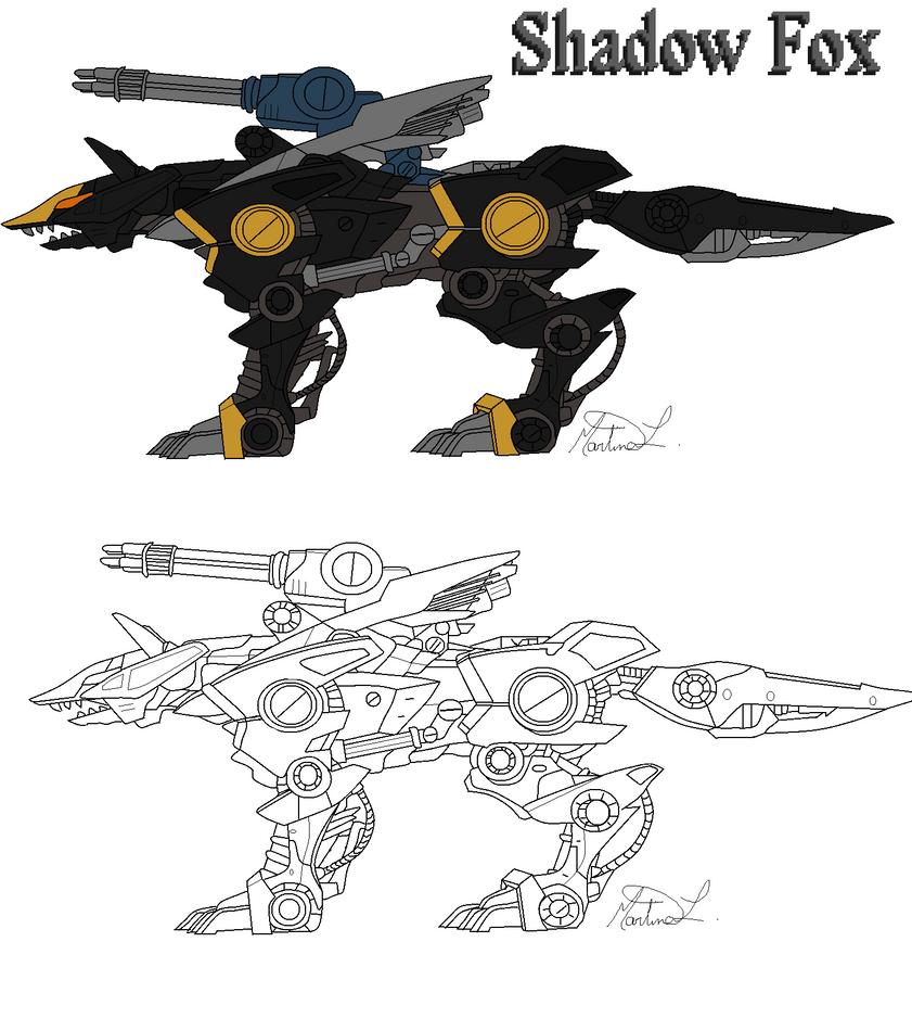 Shadow Fox zoids Line Art by BlackFireMarti on DeviantArt
