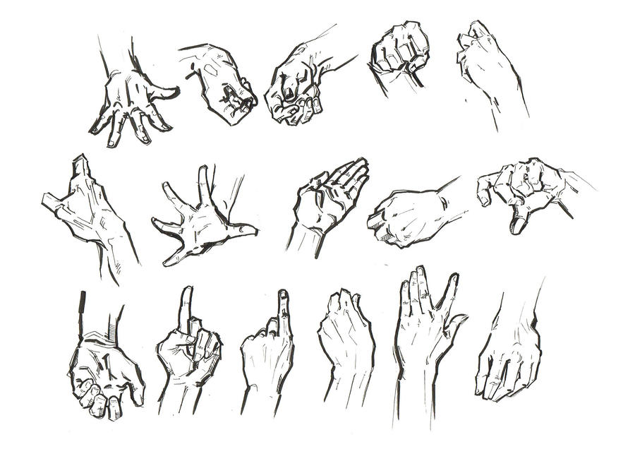 Hand Studies by April-A