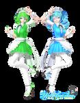 [X-mas + 30 watcher gift] TDA Maid Gumi and Miku