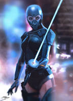 Cyborg Assassin by xenoprobe