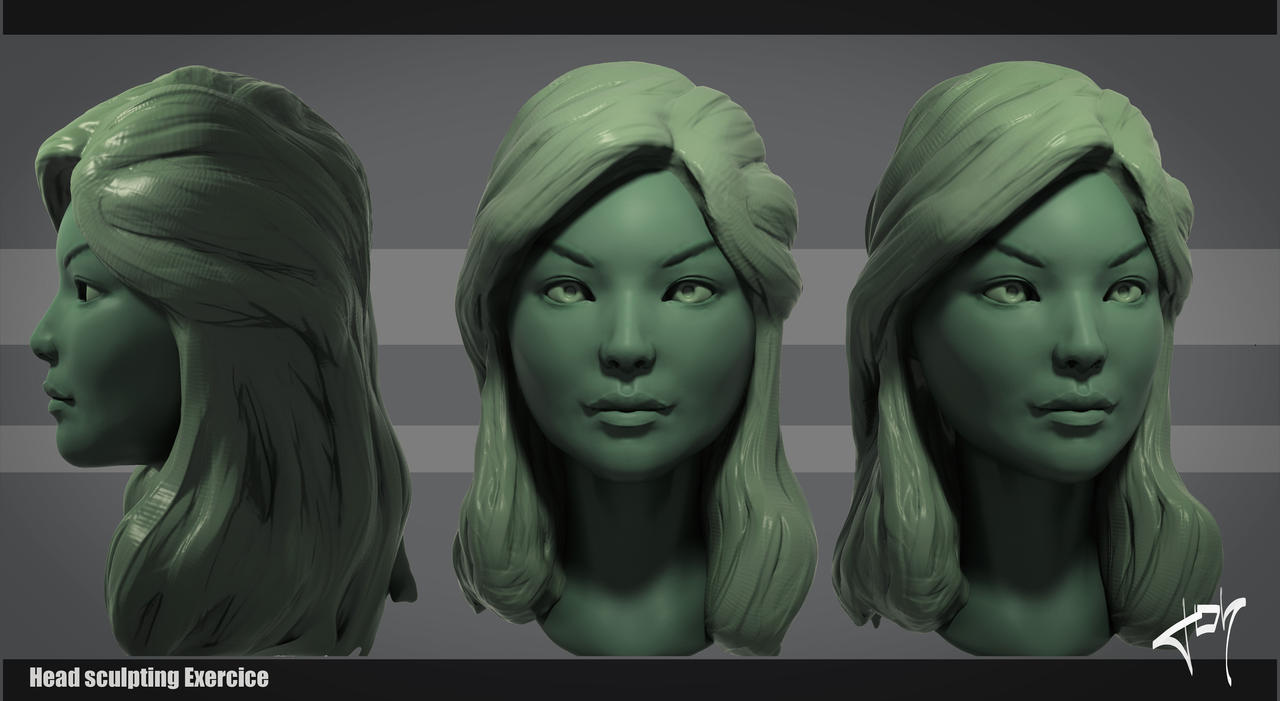Head Sculpting Exercice by j--o--h