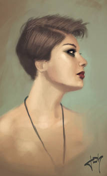 Portrait painting exercice number 7