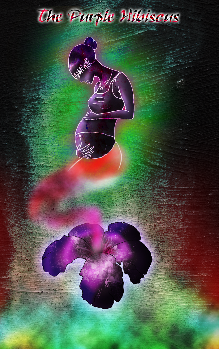 Purple Hibiscus- colors of lif by Nina-13draco