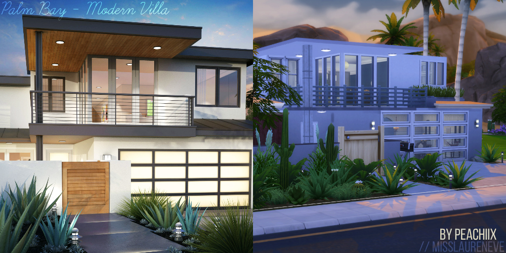 Palm Bay Modern Villa Sims4 by MissLaurenEve