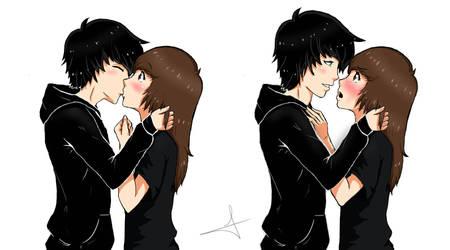 me and my boyfriend by akai-mangetsu